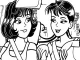 Turma Da Monica Girl Driving Car Coloring Page