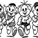 Turma Da Monica Ice Cream Kids Coloring Page