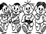 Turma Da Monica Ice Cream Kids Coloring Page