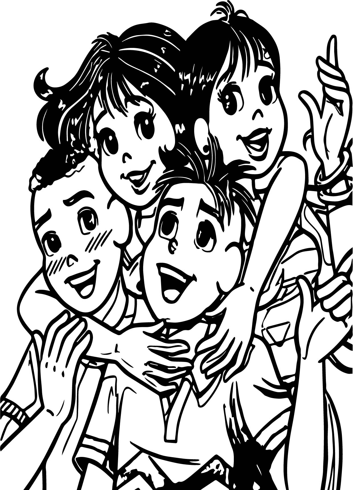 Turma Da Monica Jovem I Am Love My Friends Coloring Page