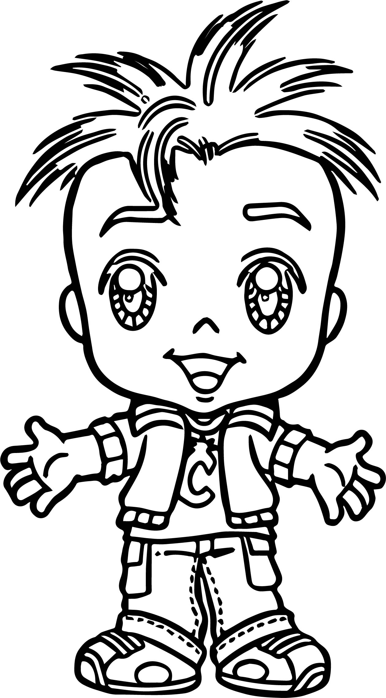 Turma Da Monica Junior Oscar Child Coloring Page