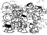 Turma Da Monica Painting Picture Joke Coloring Page