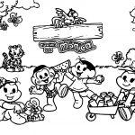 Turma Da Monica Picnic Coloring Page