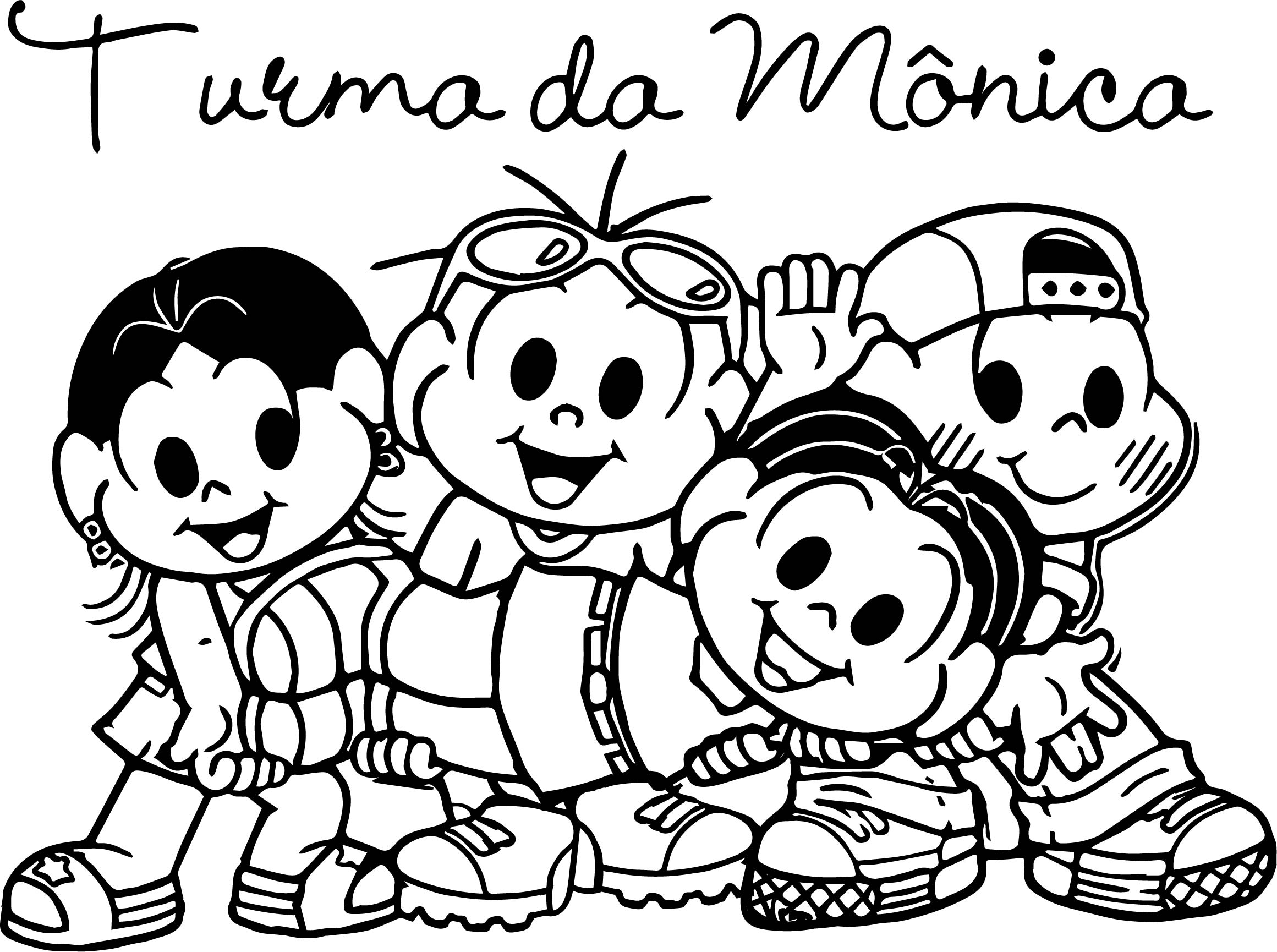 Turma Da Monica Selfie Coloring Page Wecoloringpage