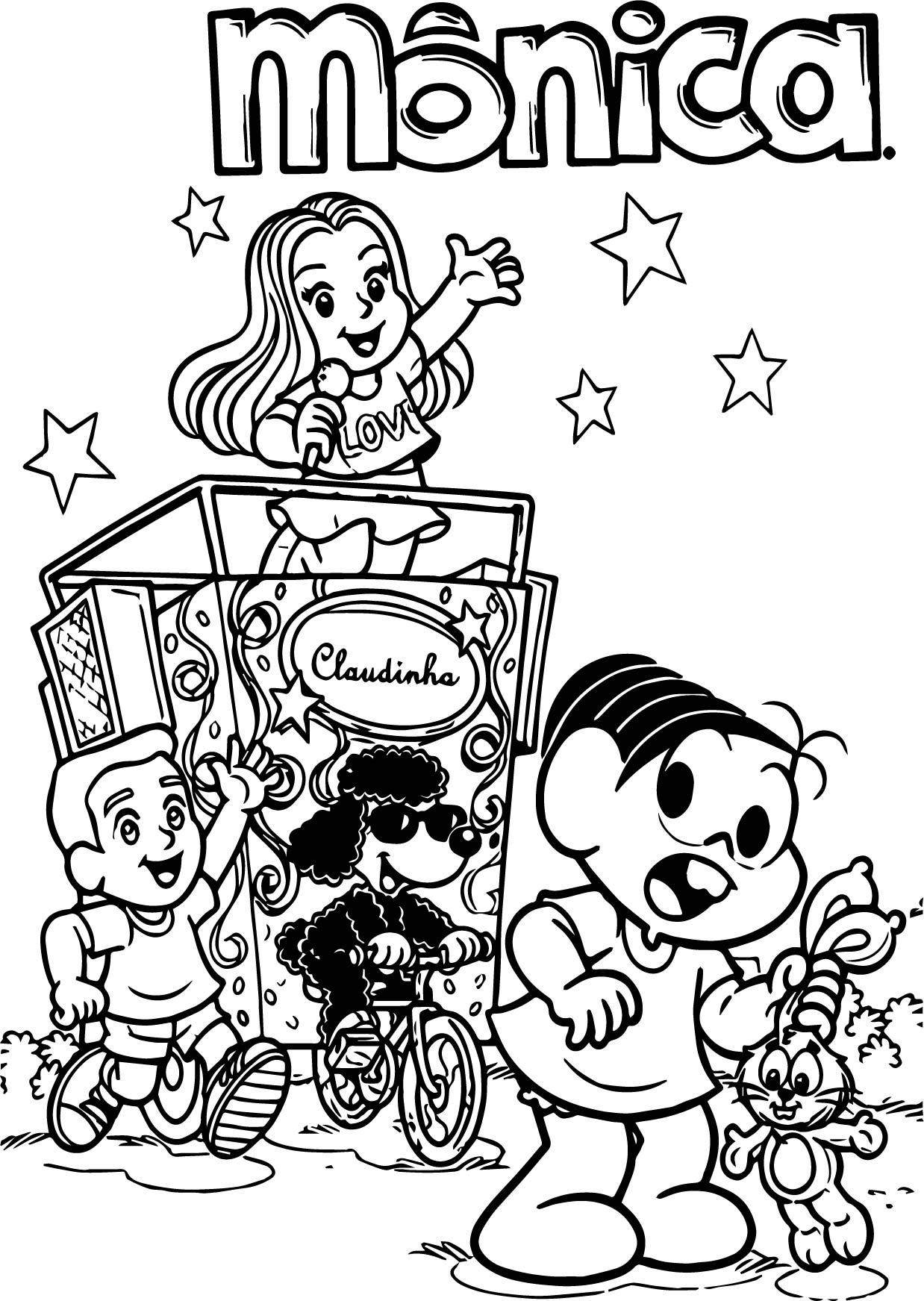 Turma Da Monica Song Kids Coloring Page