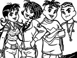 Turma Da Monica Teens Pose Coloring Page