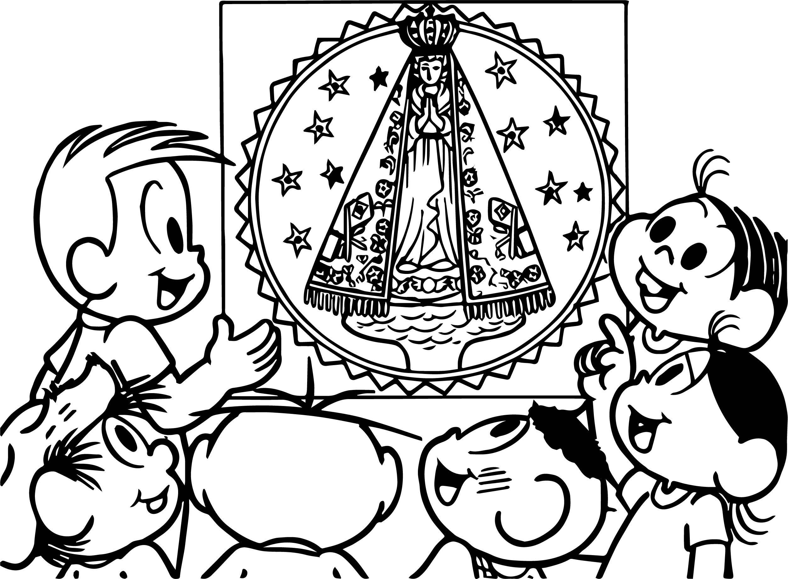 Turma Da Monica Visit With Friends Coloring Page