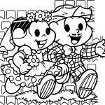 Turma Da Monica Wedding Game Coloring Page