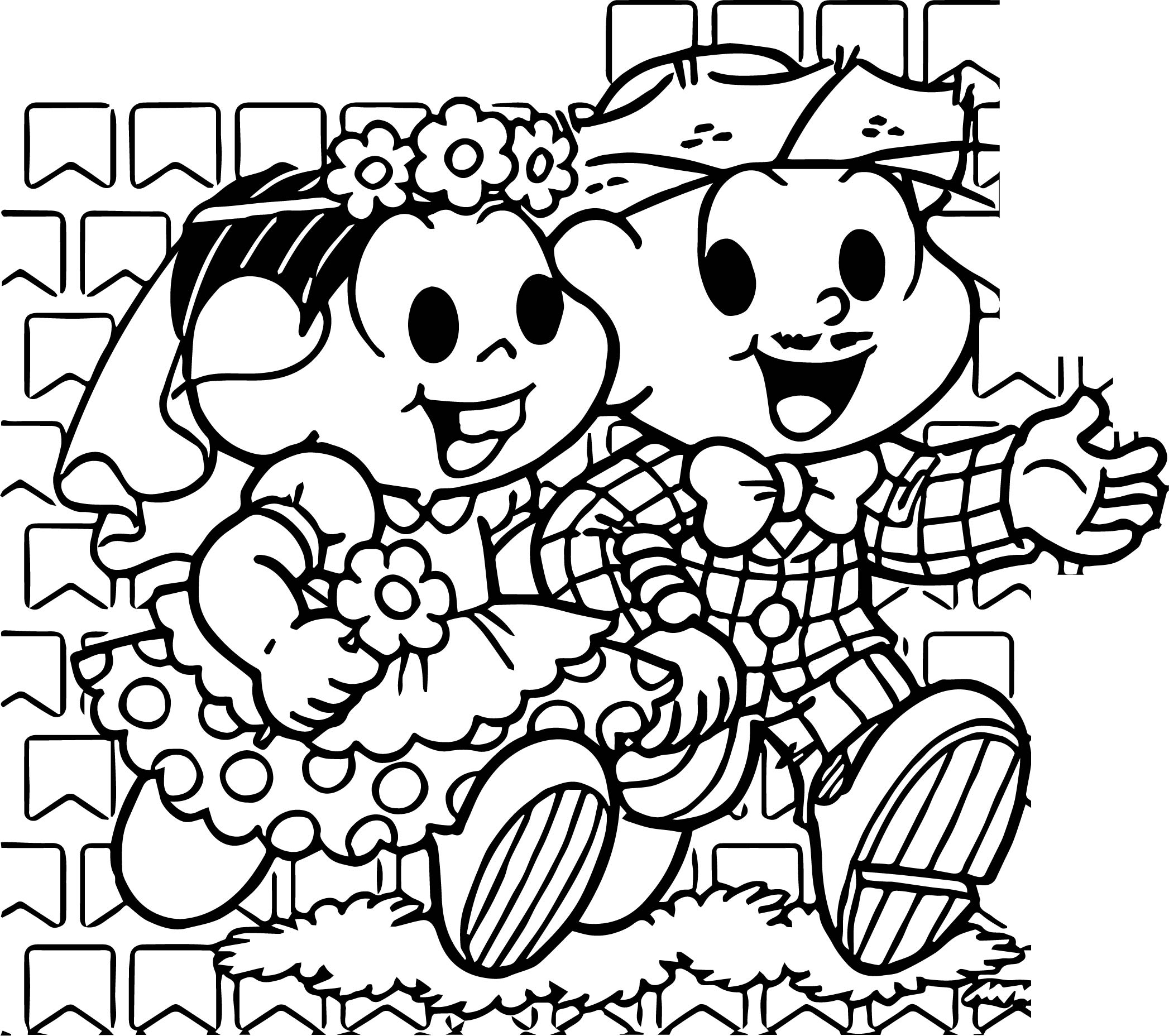 Turma Da Monica Wedding Game Coloring Page