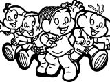 Turma da Monica Walking With Friends Coloring Page