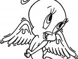 Tweety Angel Coloring Page
