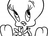 Tweety Daisy Breakup Coloring Page