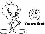 Tweety You Are Good Coloring Page