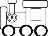 Two Number Train Coloring Page