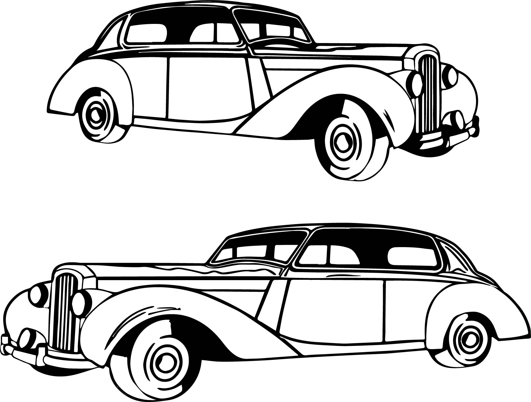 coloring pages antique cars | Antique Car Coloring Pages