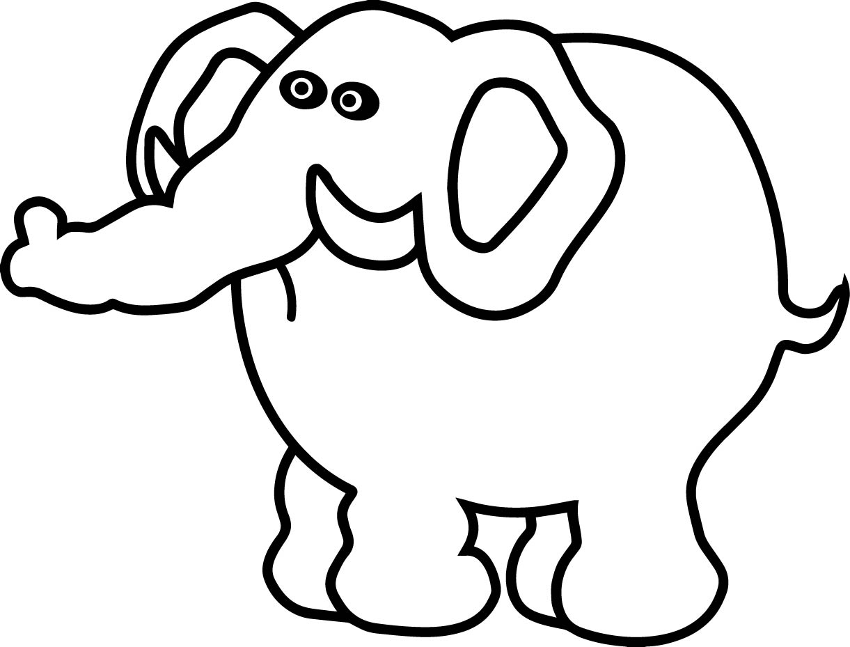 Unhappy Elephant Coloring Page