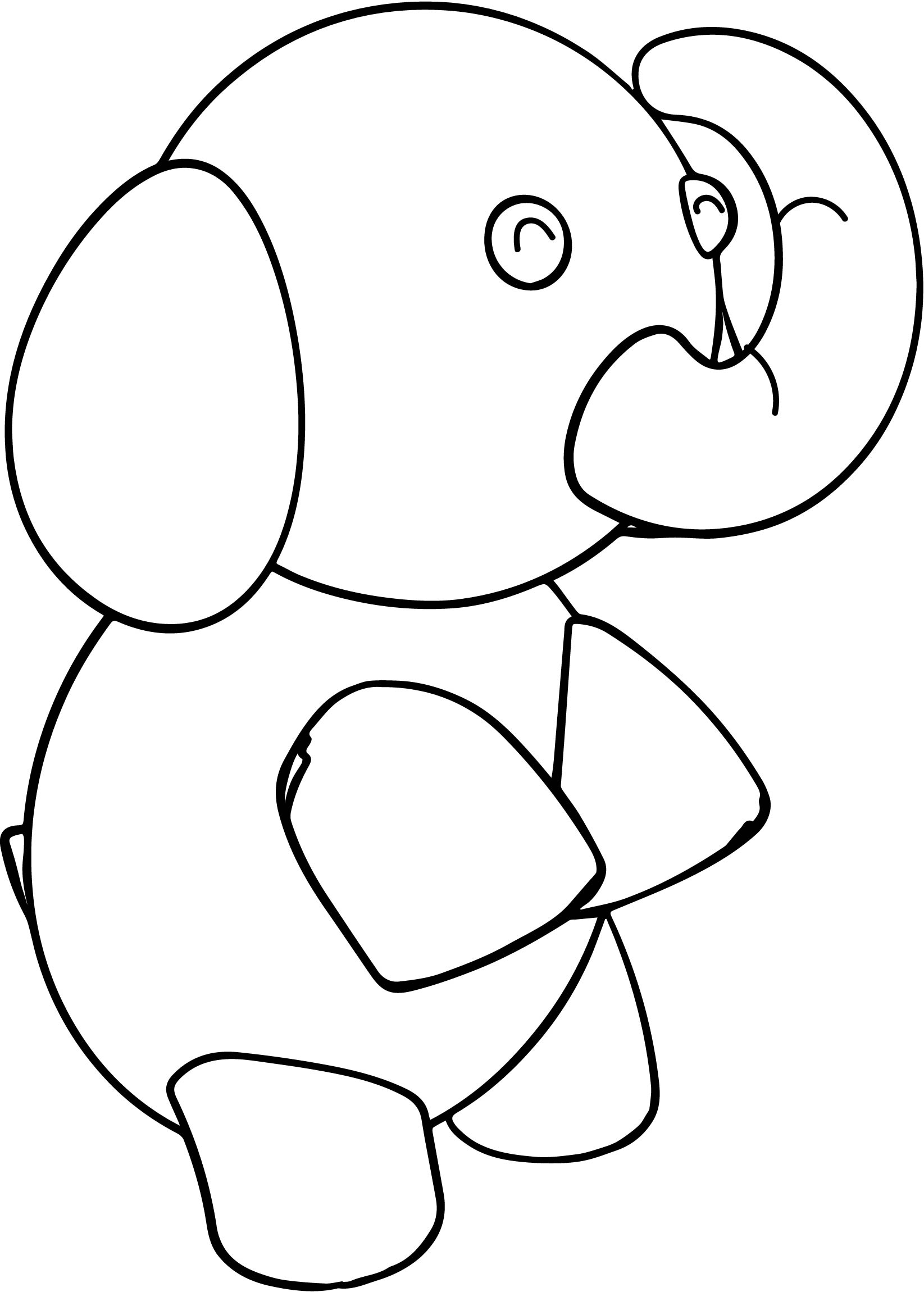 Up Walk Elephant Coloring Page