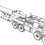 Véhicule Military Truck Coloring Page