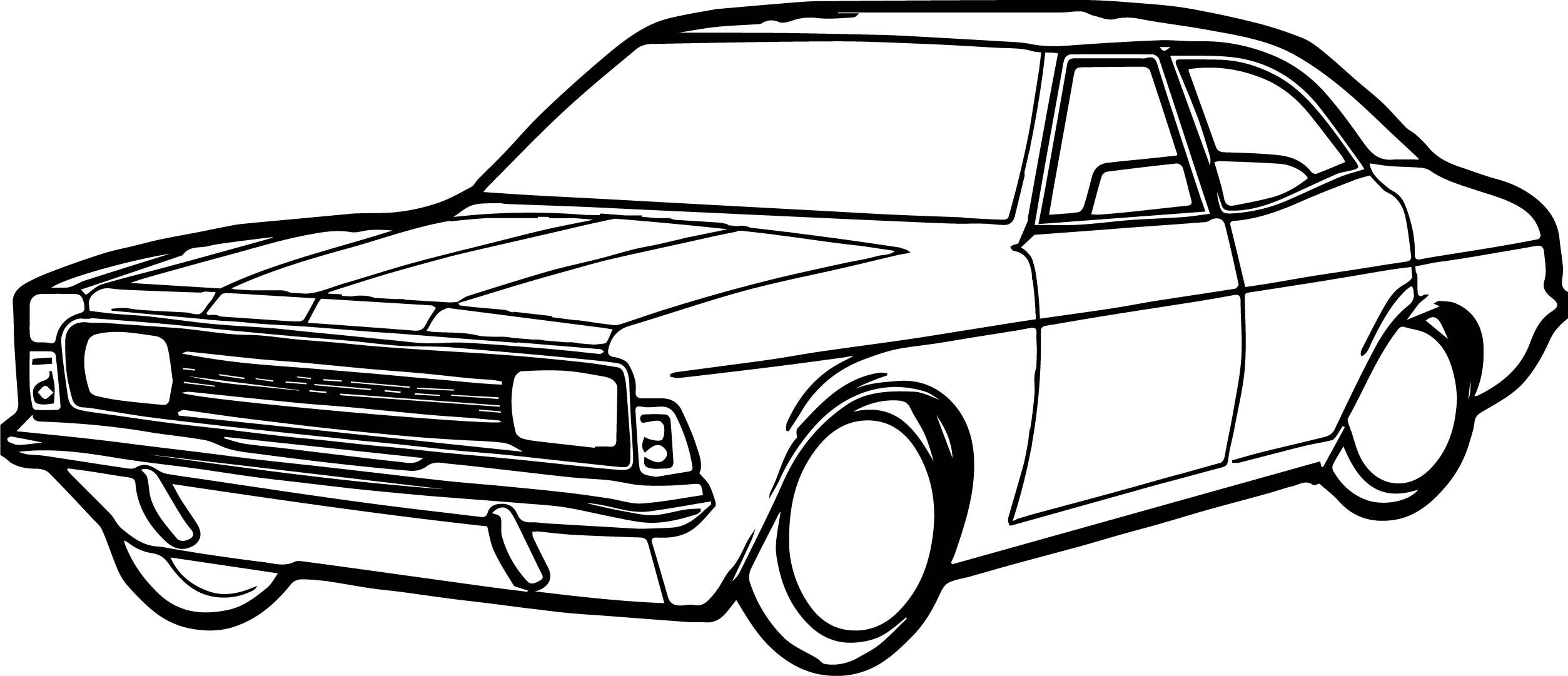 Antique Car Coloring Pages : Vintage antique car coloring page wecoloringpage
