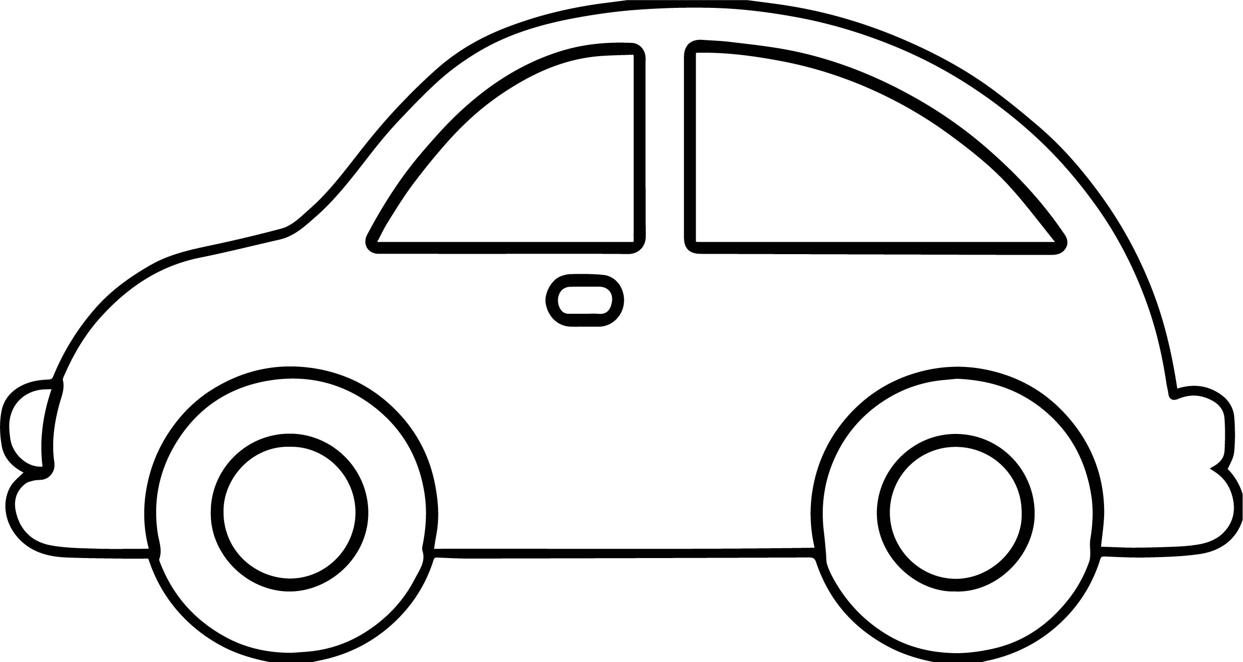 Vintage Antique Outline Car Coloring Page