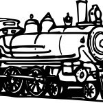 Vintage Train Coloring Page