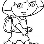 Walking Dora Coloring Page