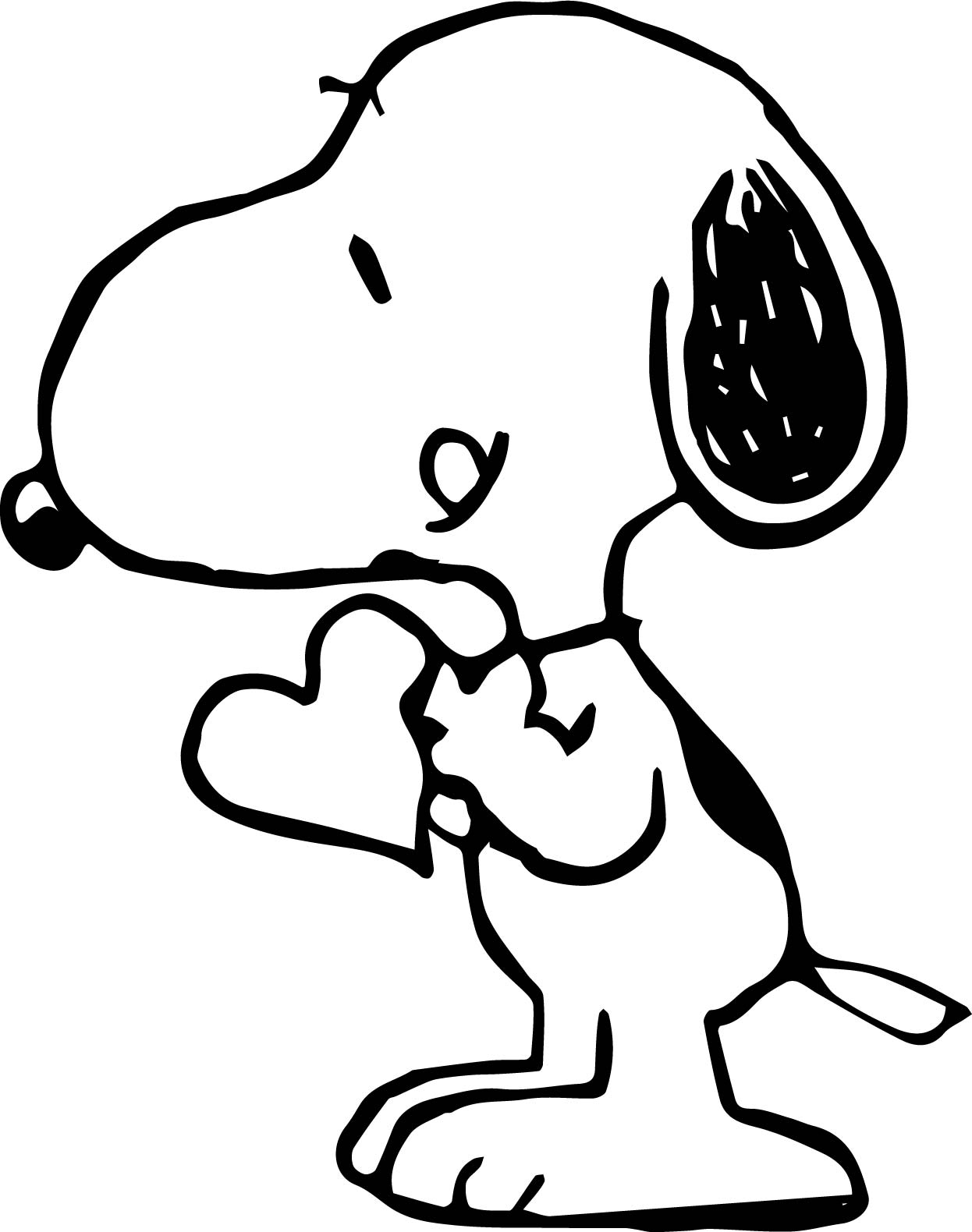 Wallpaper snoopy love coloring page for Snoopy coloring page