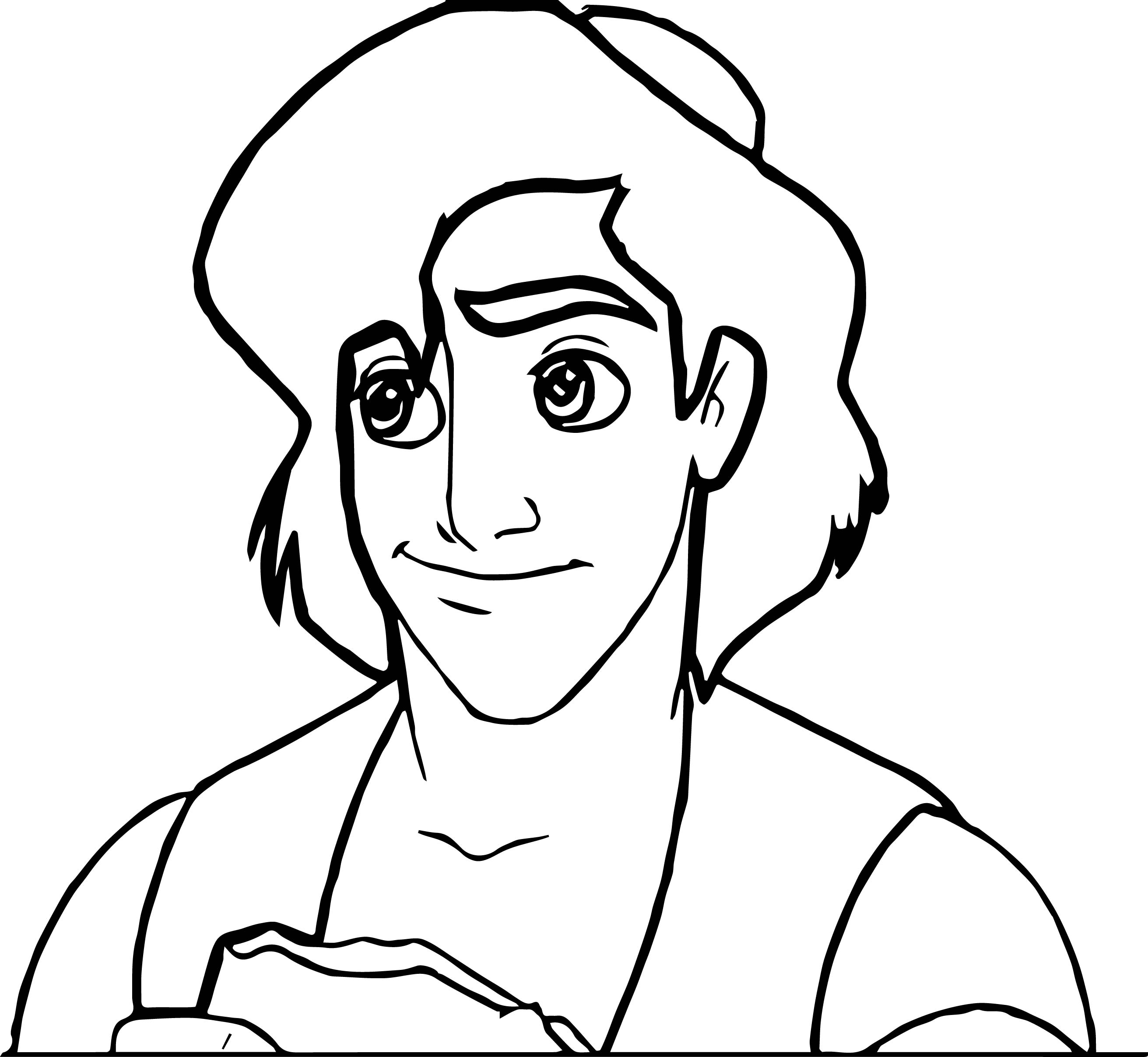Walt Disney Prince Aladdin Walt Disney Characters Bread Coloring Page