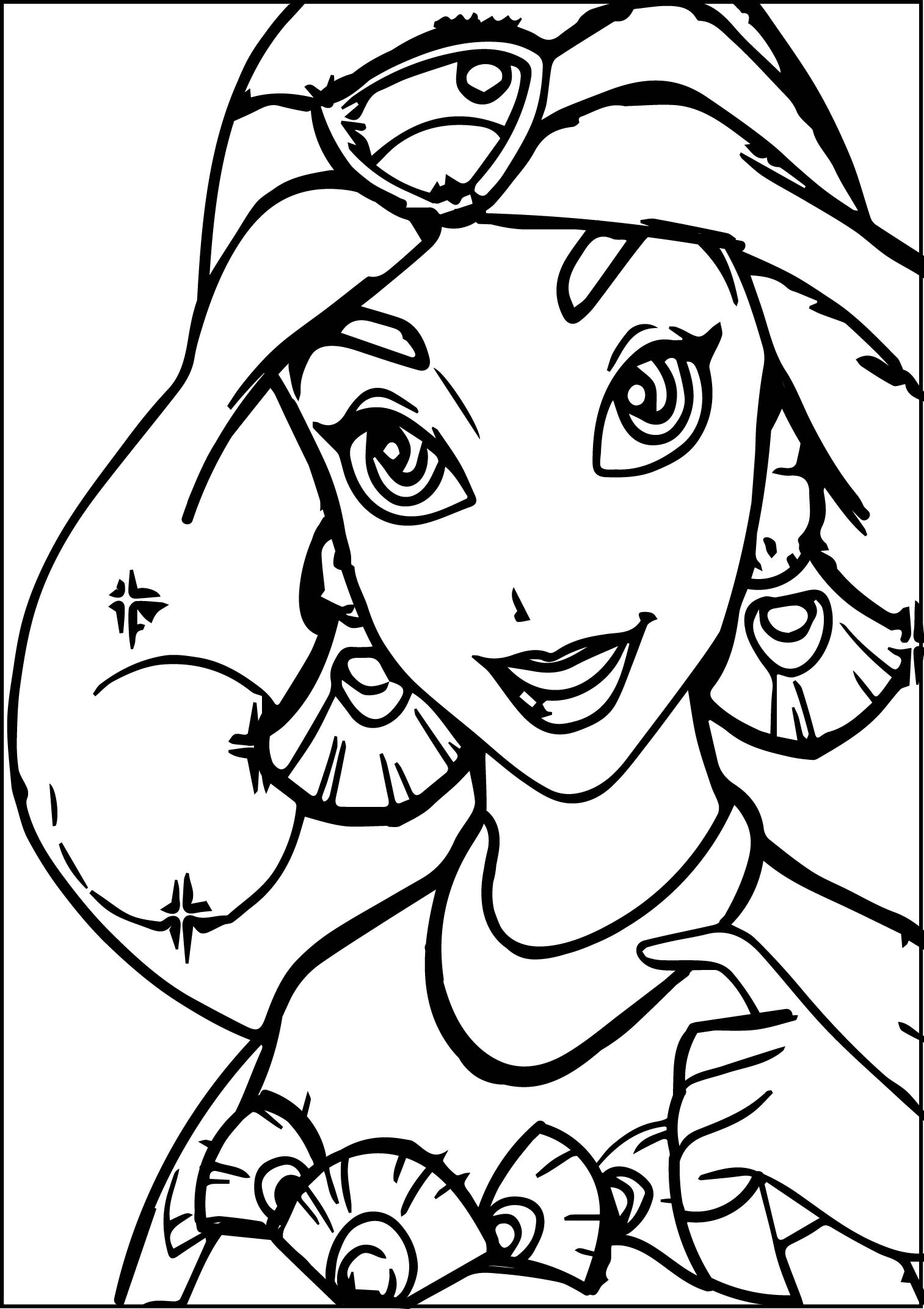 Walt Disney Prince Aladdin Walt Disney Characters Cute Coloring Page