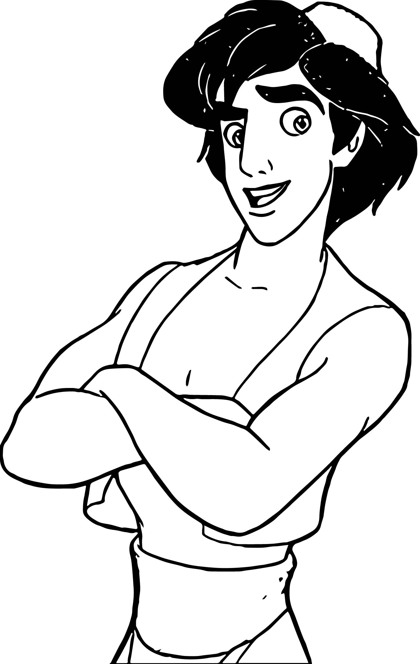 Walt Disney Prince Aladdin Walt Disney Characters Ready Coloring Pages