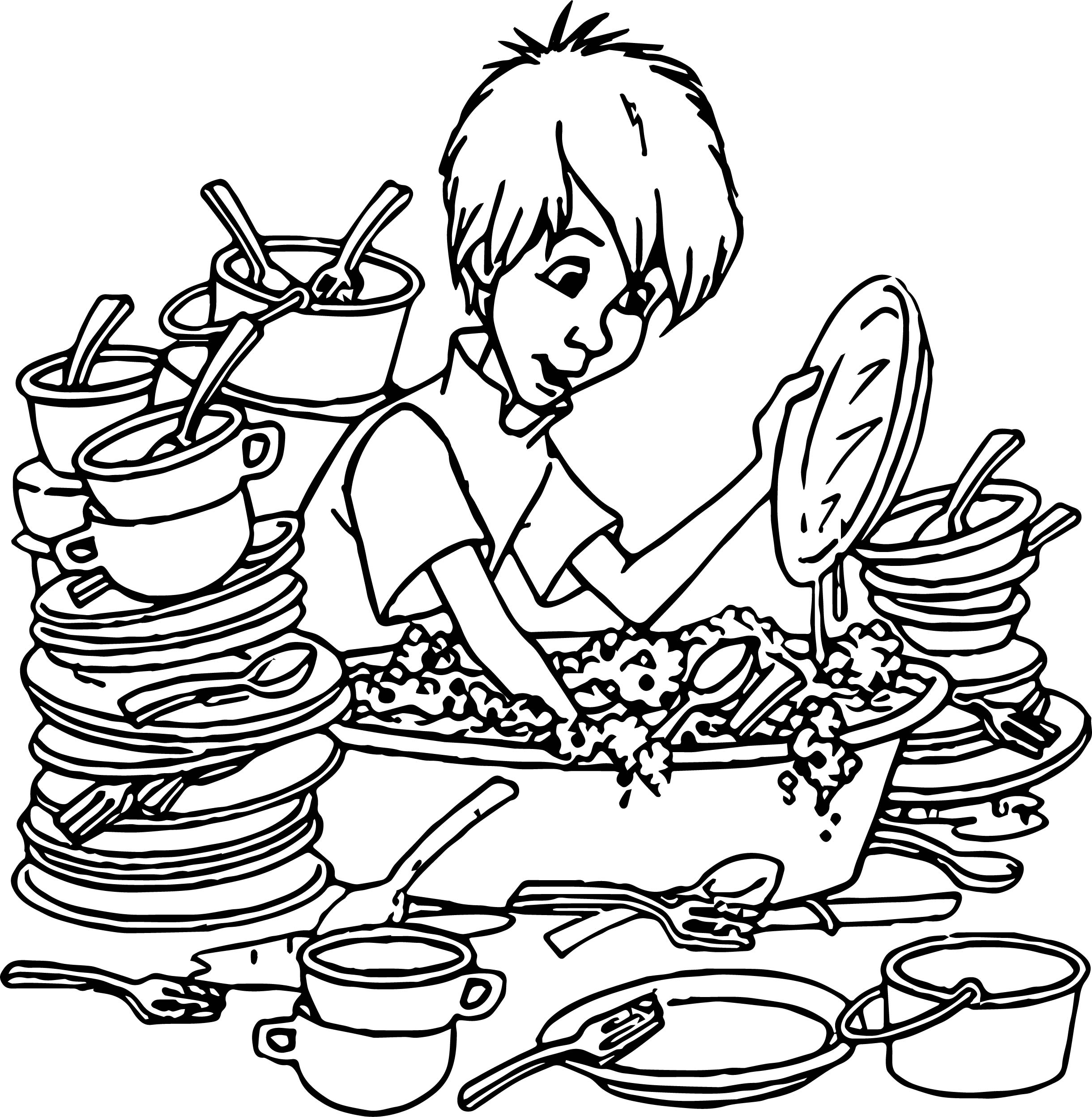 Wart Kitchen Coloring Page