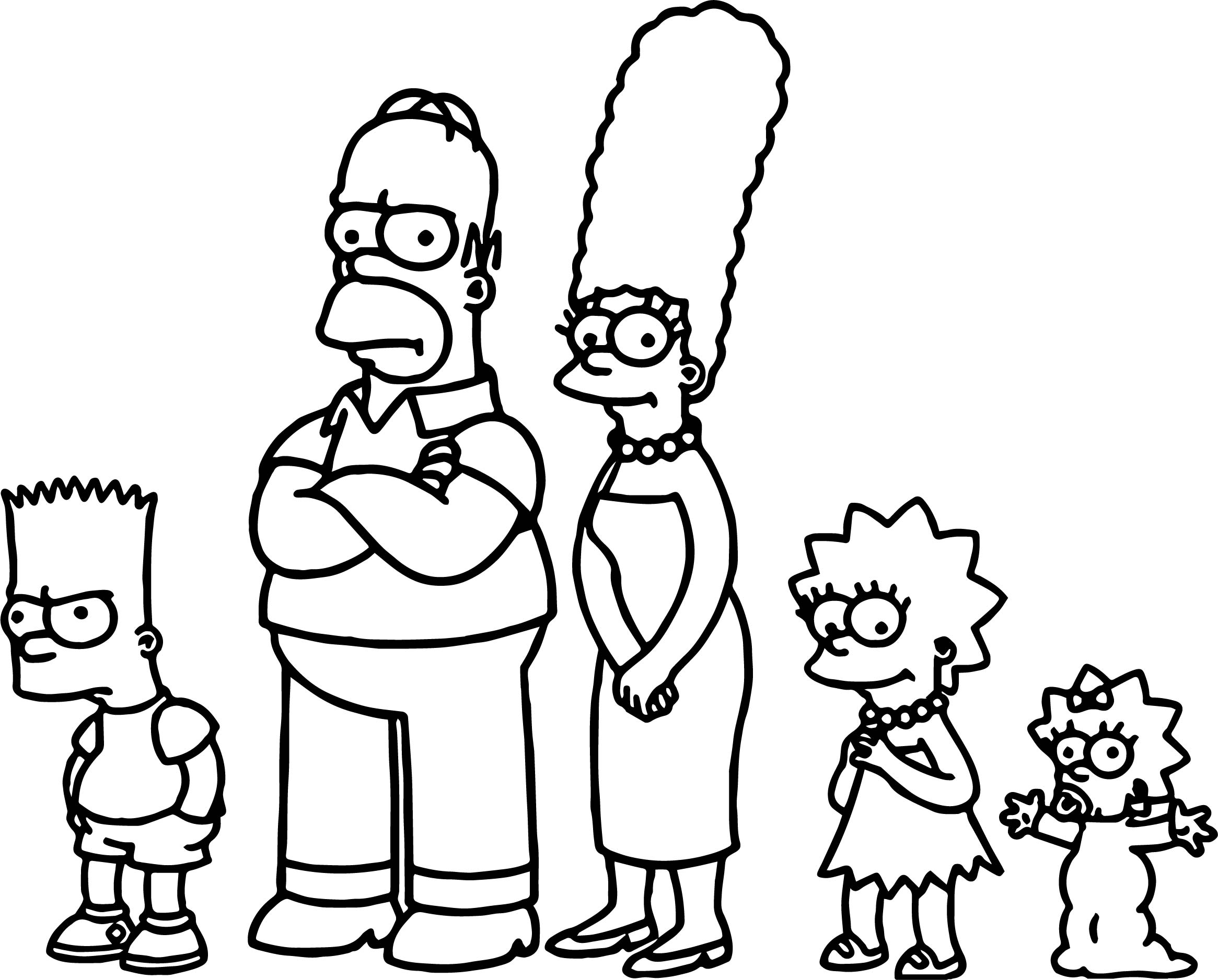Watch the simpsons still really hates fox news coloring for Coloring pages simpsons