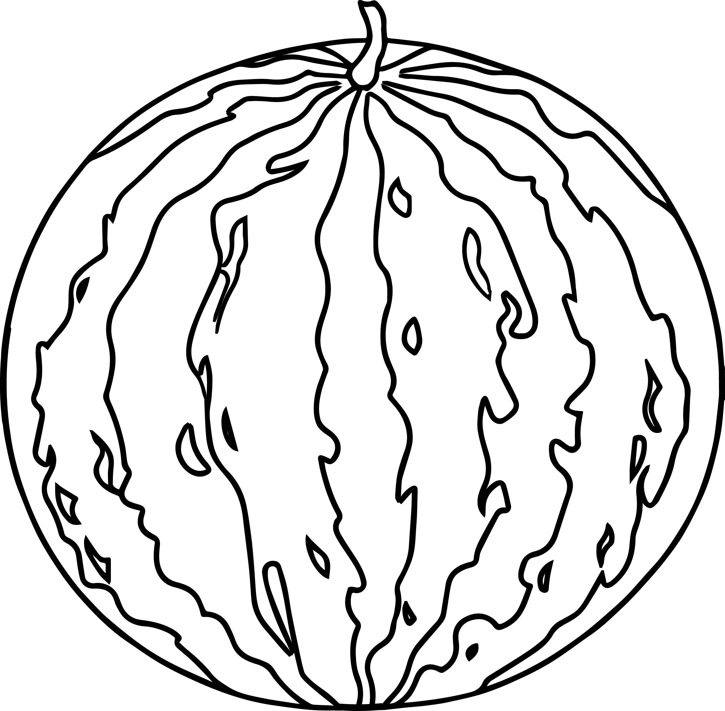 Watermelon Image Summer Coloring Page