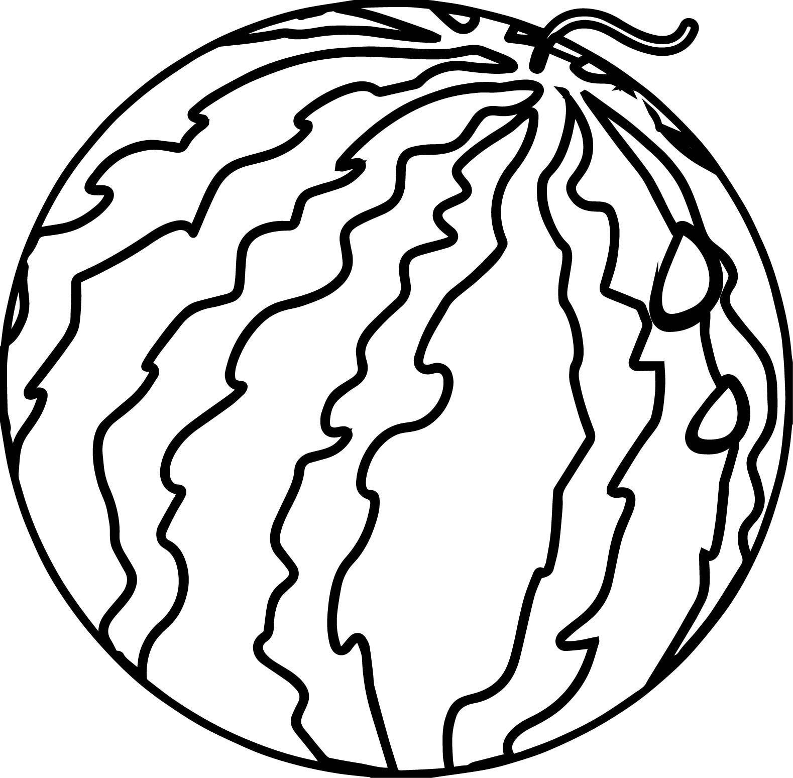 watermelon coloring page - watermelon summer coloring page