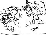 We Built It Together Smurf Coloring Page