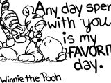 Winnie The Pooh Any Day Coloring Page