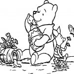 Winnie The Pooh Butterfly Coloring Page