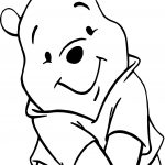 Winnie The Pooh Cute Pose Coloring Page