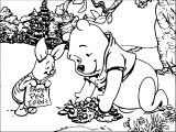 Winnie The Pooh Forest New Coloring Page