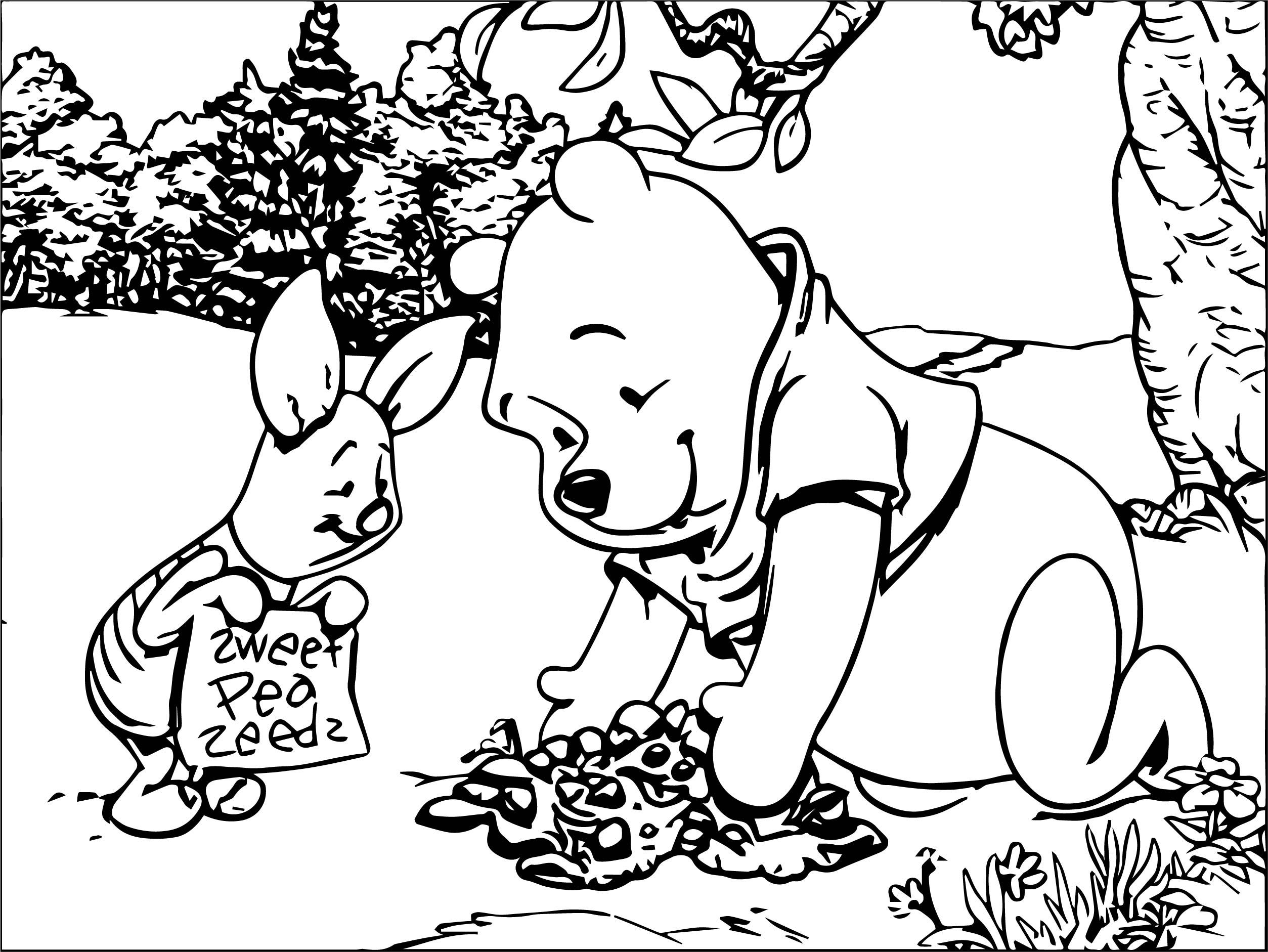 100 coloring pages of winnie the pooh as babies santa coloring