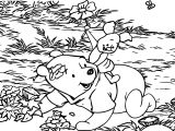 Winnie The Pooh Happy Time Coloring Page
