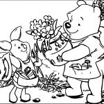 Winnie The Pooh Honey Gift Coloring Page
