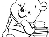 Winnie The Pooh Kid Bear Coloring Page