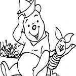 Winnie The Pooh Piglet Say Hello Coloring Page