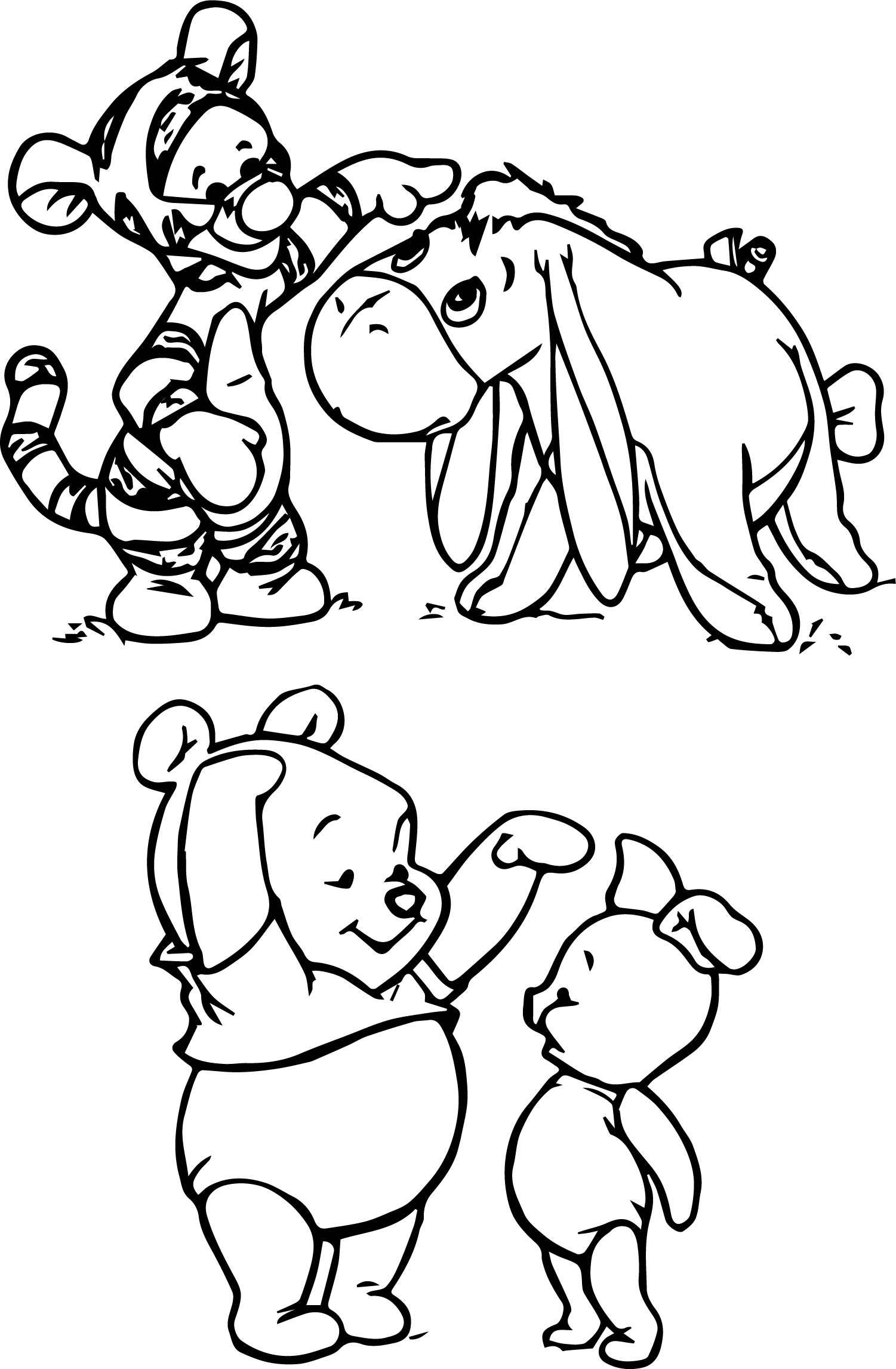 eeyore coloring pages tigger - photo#16