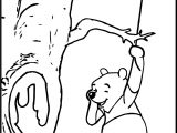 Winnie The Pooh Tree Coloring Page