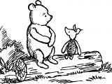 Winnie The Pooh Tree Stay Coloring Page