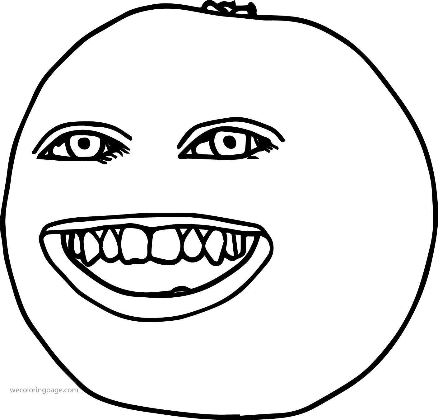 Woman The Annoying Orange Coloring Page