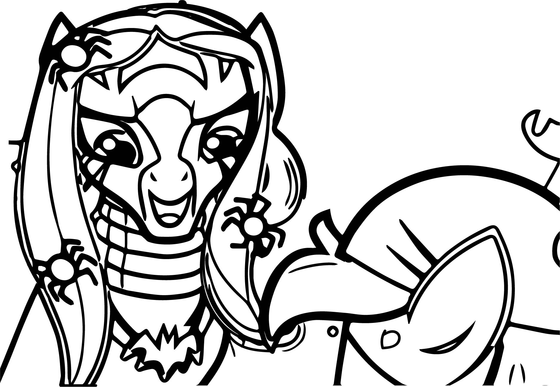 Zecora Might Let Us Live Coloring Page