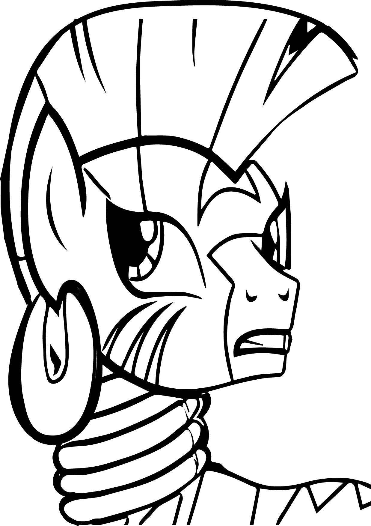 Zecora Quite Sure Coloring Page